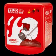 火焰战士 消防面具防毒面具防烟面罩硅胶增强版过滤式自救呼吸器家用高层逃生面罩 TZL30