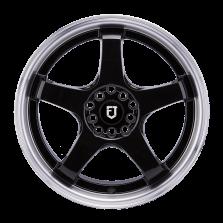 【 热销款 买3送1 四只套装】丰途/FT510 17寸低压铸造轮毂 孔距5X114.3/5X100 ET40黑色涂装车边