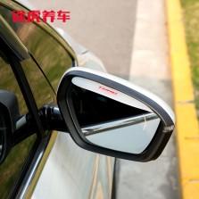途虎定制 后视镜防雨挡雨眉反光镜遮雨板通用型倒车镜装饰 透明一对装
