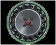 【四只套装】丰途/FF199 16寸 锻造轮毂 孔距/ ET/ 按定制颜色