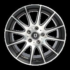 【买3送1 四只套装】丰途/FT101 17寸低压铸造轮毂 孔距5X112 ET42黑色车亮