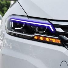 【免费安装】龙鼎适用于新朗逸Plus大灯总成18-19款改装LED透镜LED日行灯流光转向