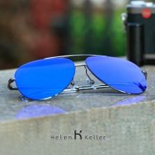 海伦凯勒开车眼镜墨镜 偏光太阳镜男女款驾驶镜 情侣款蛤蟆镜 H8548N02黑灰渐进片