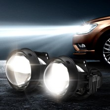 途虎定制 天蝎座 汽车大灯改装升级套装 【LED双光透镜套装+6000K白亮光+35W】一对装 免费安装