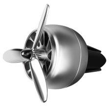 空军I号 航空合金螺旋桨 车载风口香薰 质感亮银【送2盒精油+1个香片】