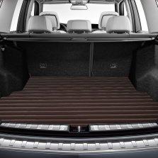 途虎定制 皮革后备箱垫专车专用尾箱垫 固特异同厂制造【横条纹 棕色】