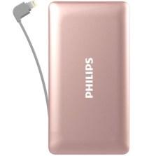 飞利浦/PHILIPS 聚合物10000毫安 移动电源充电宝 自带苹果Lightning线 DLP6100V【玫瑰金】