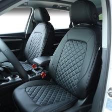 雅鞍 专车专用实车打版 360°全包围 皮革款 定制座垫【黑色菱形绗绣款】