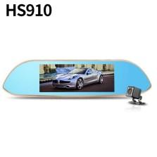 【套餐二】凌度HS910  7.0寸大屏 前后双镜头行车记录仪 170°大广角 倒车影像 GPS导航 语音声控 标配+32G卡+降压线