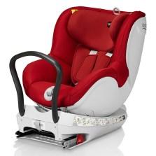 宝得适/Britax 双面骑士Dualfix 儿童安全座椅 isofix  0-4周岁【热情红】