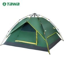 TAWA 户外2-4人 全自动弹簧升级版 防雨野营露营帐篷【军绿色】TWCP-160530