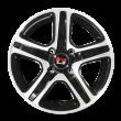 【券后价385元/只 四只套装】丰途/华固HG2563 15寸 低压铸造轮毂 孔距4X100 ET38黑色车亮