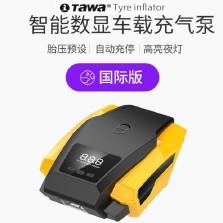 德国TAWA 车载充气泵 自动充停便携式小轿车汽车轮胎打气泵【智能数显版】TWC-180321