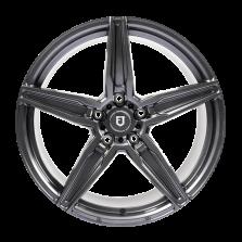 【限时7折 四只套装】丰途/FT502 18寸 低压铸造轮毂 孔距5X112 ET43亮铁灰全涂装