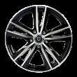 丰途/FT509 16寸 低压铸造轮毂 孔距5X108 ET45黑色车亮