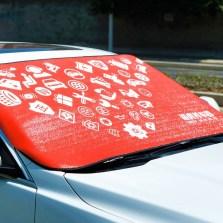 途虎定制 夏季防晒隔热前置汽车遮阳挡 前档风玻璃罩遮阳帘【200*80】