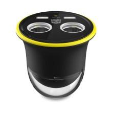 变形金刚 12V双点烟器扩展杯充 智能电瓶电压监测 精钢安全逃生锤【三合一杯充】TF-CC-09