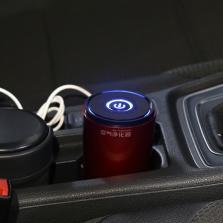 先科/SAST  汽车车载水杯空气净化器 负离子氧吧除甲醛PM2.5异烟尘味杀菌【玫瑰红】