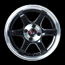 丰途/华固HG2662 15寸 低压铸造轮毂 孔距4X100 ET38黑色车边车中心盘