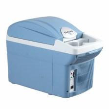 婷微(Tingwei)CB-08B 6L蓝色 四季车载冰箱 半导体车家两用冷暖箱 迷你小冰箱化妆箱(内赠冰袋×2)