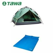 TAWA 3-4人全自动帐篷+双人气垫床【套餐3-实用款】