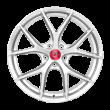 【买3送1 四只套装】丰途/FR551 18寸 旋压铸造轮毂 孔距5X112 ET43高亮银全涂装