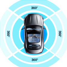 【免费安装】创讯 1080P无光夜视单全景+解码器360度全景影像系统高清解码一体机倒车盲区辅助行车记录仪
