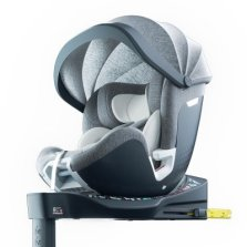 Babyfirst宝贝第一灵悦安全座椅0-7岁宝宝360°旋转 欧标i-Size 带遮阳棚【标准版-灰色】