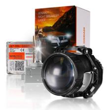 【免费安装】欧司朗激光氙行者套装XNL_D1S4800K氙气灯+欧司朗45W高功率安定器+海拉6透镜套装