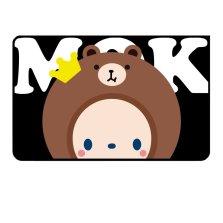 皇冠猴MOKYO 磁吸防晒遮阳帘 正版授权卡通遮光布【C布朗猴-后排侧窗单片】