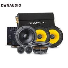 【免费安装】丹拿DYNAUDIO ESOTAN 232 两分频音响改装套装+同轴喇叭+专业四路功放4X-DSP 通用型全车六扬声器套装