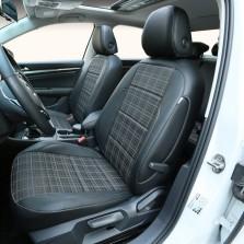 雅鞍 专车专用实车打版360°全包围 皮织混搭 定制座垫【黑色格子款】