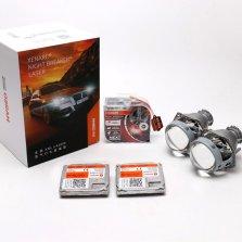 【免费安装】欧司朗激光氙行者套装XNL_D1S4800K氙气灯+欧司朗45W高功率安定器+高清海5透镜套装