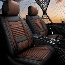 梦雅德 汽车坐垫四季通用全包围座套新款6D亚麻固定腰靠全包座垫套   (标准版  魅力咖)