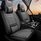 梦雅德 汽车坐垫四季通用全包围座套新款6D亚麻固定腰靠全包座垫套   (豪华版  雅典灰)