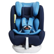瑞贝乐/REEBABY儿童安全座椅汽车用 0-12岁360度旋转 全注塑isofix硬接口 s62【贵族蓝】