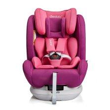 瑞贝乐/REEBABY儿童安全座椅汽车用 0-12岁360度旋转 全注塑isofix硬接口 s62【公主粉】