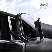 倍思 磐石 电动自动感应车载手机导航支架无线充电器 15W速充 黑色