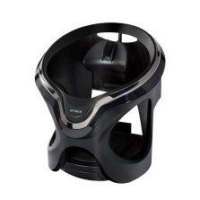 日本YAC车载水杯架汽车出风口杯座杯托创意重力感应LED灯饮料烟灰缸置物架运动商务 光纤照明杯架 PF-324 黑色