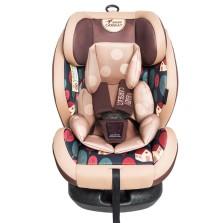 贝贝卡西儿童安全座椅 ISOFIX 满月-12岁 咖色松果